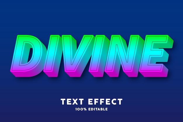 Efecto de texto de estilo de degradado de caramelo 3d