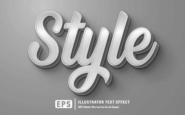 Efecto de texto de estilo - editable