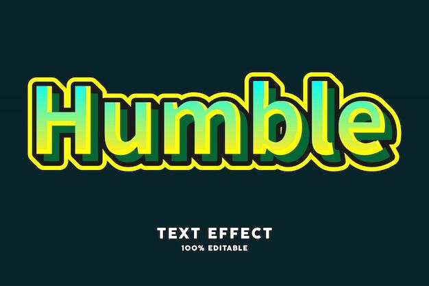 Efecto de texto de estilo moderno degradado verde amarillo