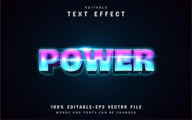 Efecto de texto estilo neón de energía