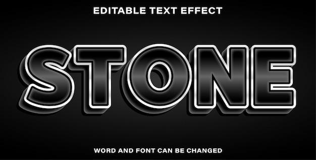 Efecto de texto de estilo de piedra