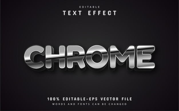Efecto de texto de estilo plateado editable