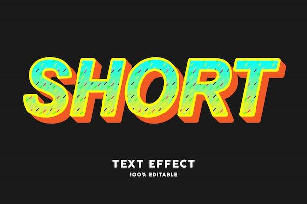 Efecto de texto de estilo pop art verde amarillo