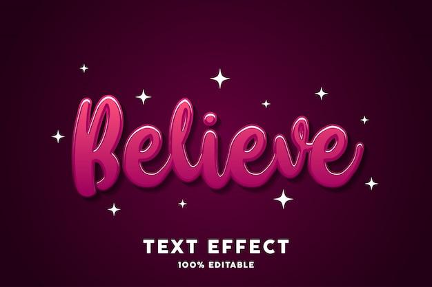 Efecto de texto de estilo en relieve rojo