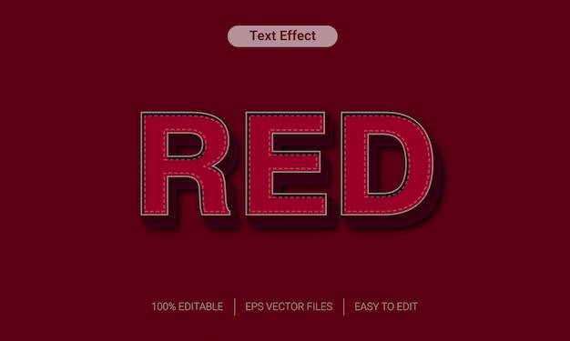 Efecto de texto de estilo retro rojo