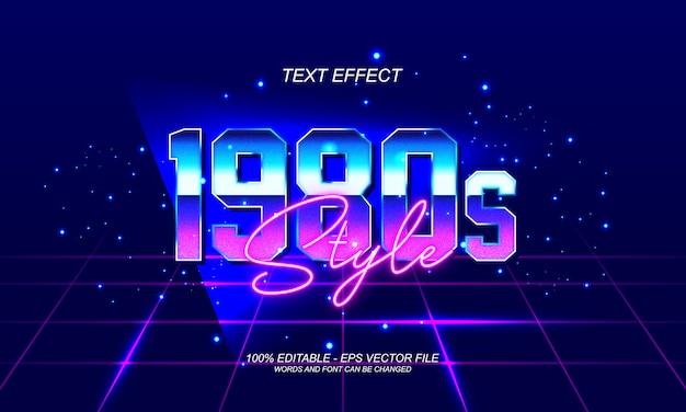 Efecto de texto de estilo retro