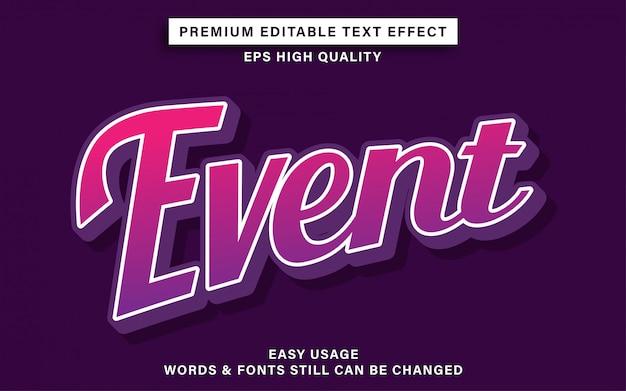 Efecto de texto de evento