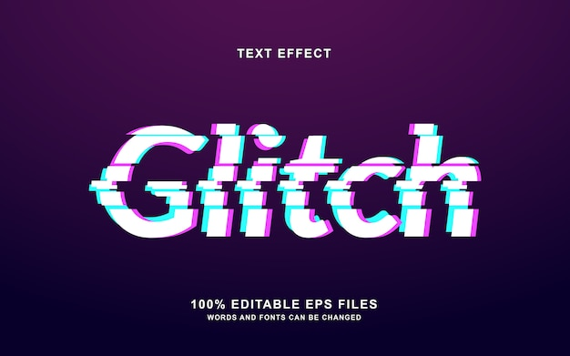 Efecto de texto de falla