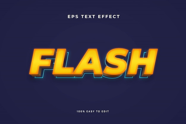 Efecto de texto flash 3d