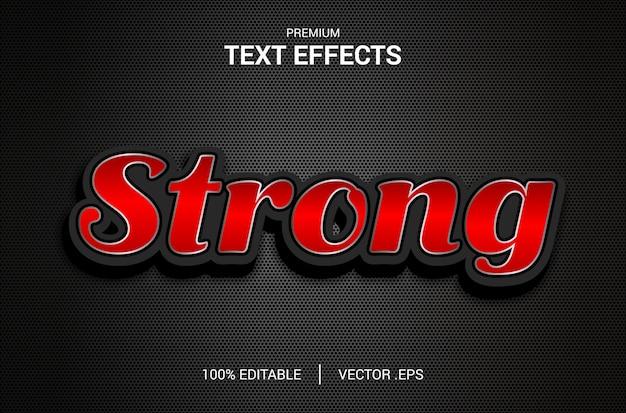 Efecto de texto fuerte, establecer efecto de texto fuerte abstracto elegante, efecto de fuente editable de estilo de texto fuerte