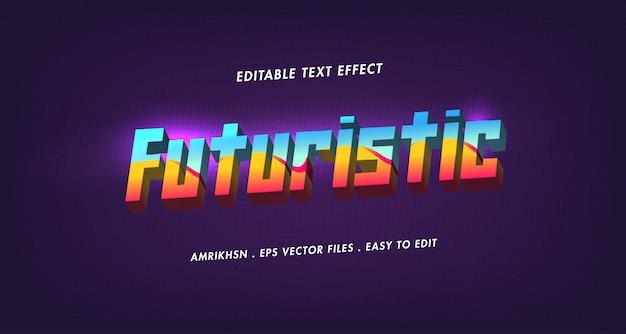 Efecto de texto futurista 3d