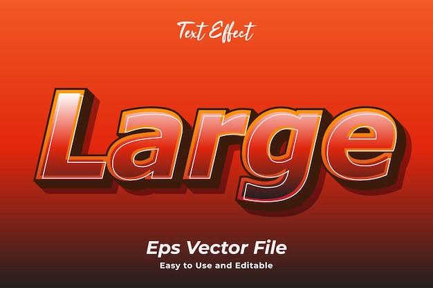 Efecto de texto grande editable y fácil de usar vector premium
