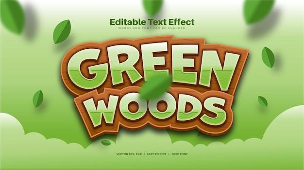 Efecto de texto green woods