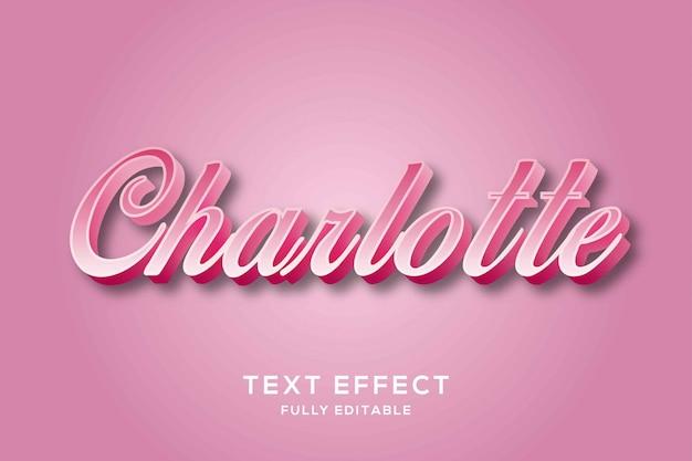 Efecto de texto de guión rosa moderno