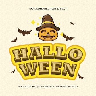 Efecto de texto de halloween