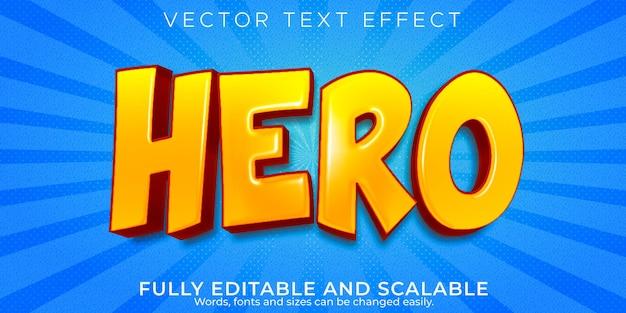 Efecto de texto de héroe