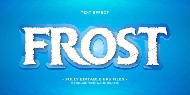 Efecto de texto de hielo completo 100 imagen vectorial editable las palabras y la fuente se pueden cambiar