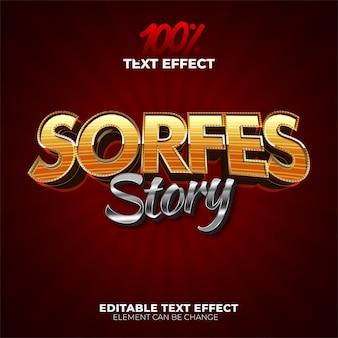 Efecto de texto de la historia de sorfes