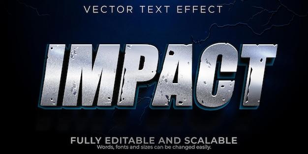 Efecto de texto de impacto