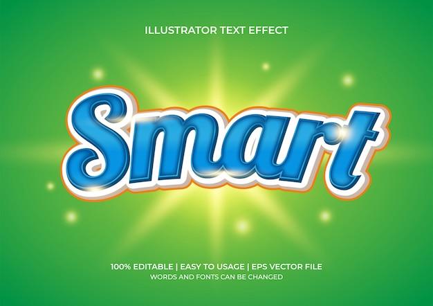 Efecto de texto inteligente de estilo 3d