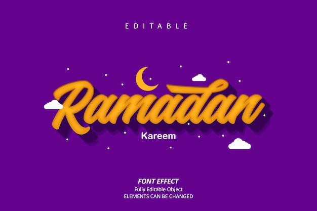 Efecto de texto islámico de ramadán