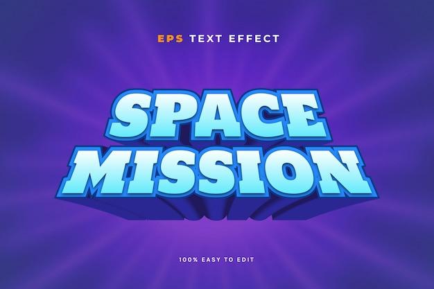 Efecto de texto del juego espacial