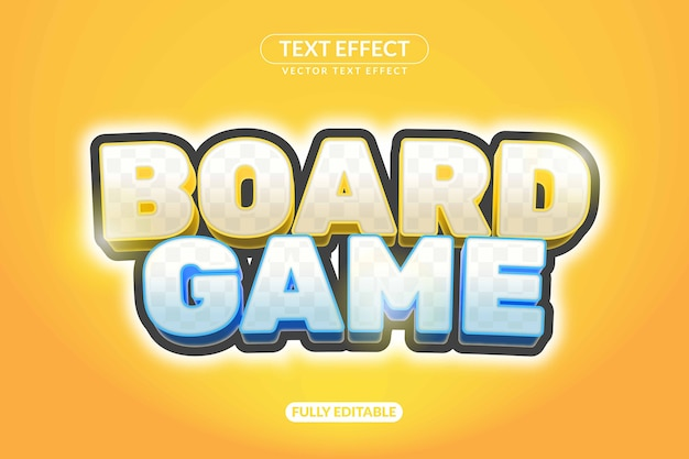 Efecto de texto del juego de mesa