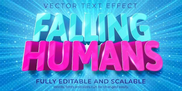 Efecto de texto del juego móvil; dibujos animados editables y estilo de texto divertido