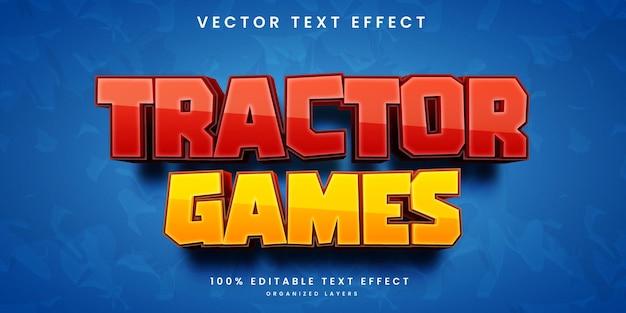 Efecto de texto del juego de tractor