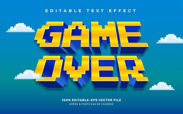 Efecto de texto del juego