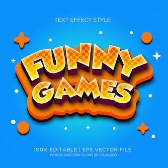 Efecto de texto de juegos divertidos