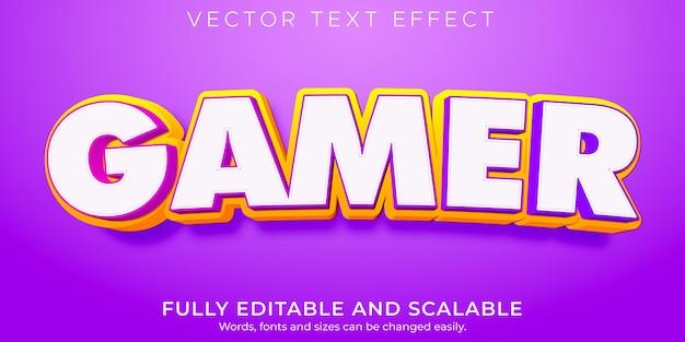 Efecto de texto de jugador estilo de texto cómico y dibujos animados editables