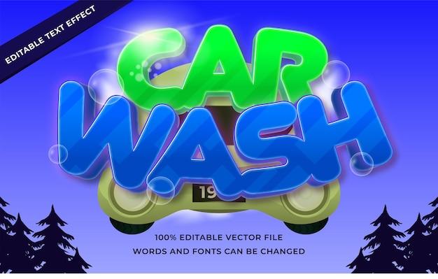 Efecto de texto de lavado de coches para ilustrador.