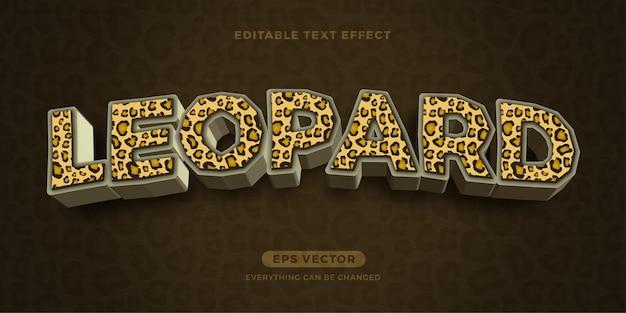 Efecto de texto de leopardo