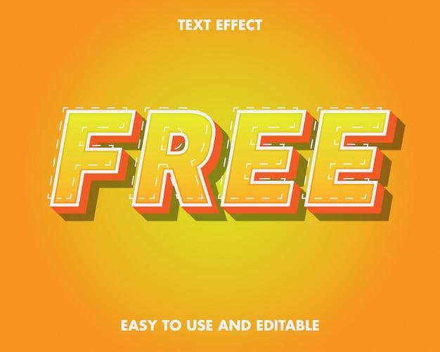 Efecto de texto libre. efecto de texto editable y fácil de usar. ilustración vectorial premium