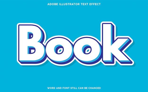 Efecto de texto del libro con color blanco