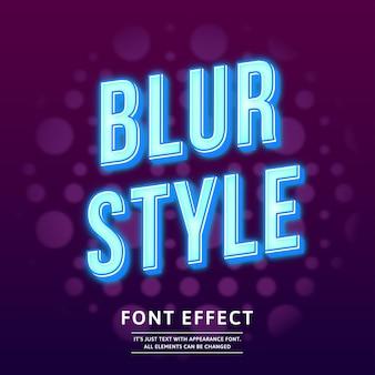 Efecto de texto ligero estilo de desenfoque