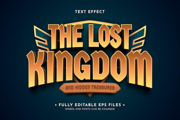 Efecto de texto del logo del juego