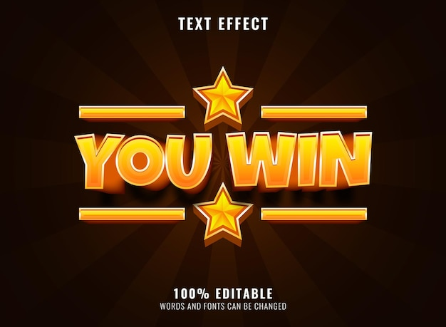Efecto de texto del logotipo del juego editable de texto de fuente de diamante dorado