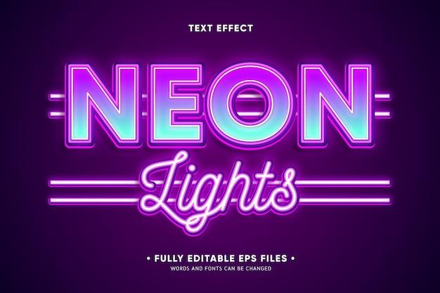 Efecto de texto de luces de neón