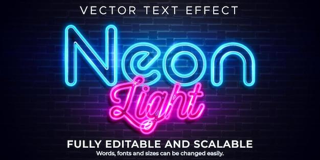 Efecto de texto de luz de neón