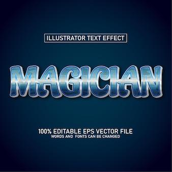 Efecto de texto mago ilustrador editable premium