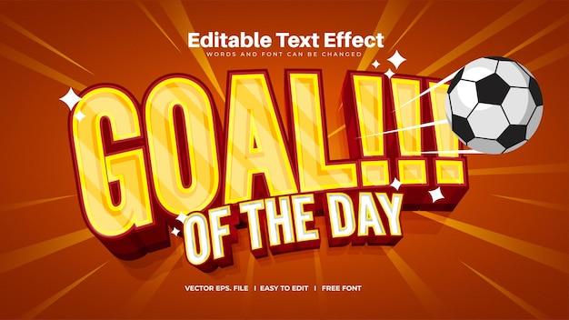 Efecto de texto de la meta del día