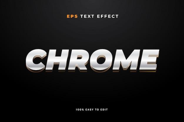 Efecto de texto de metal cromado
