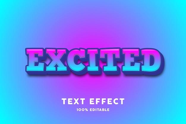 Efecto de texto de moda moderno azul rosa