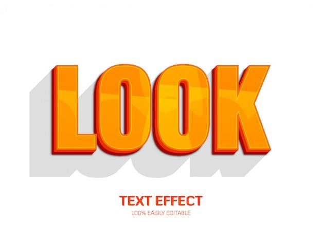 Efecto de texto moderno. estilo de fuente editable