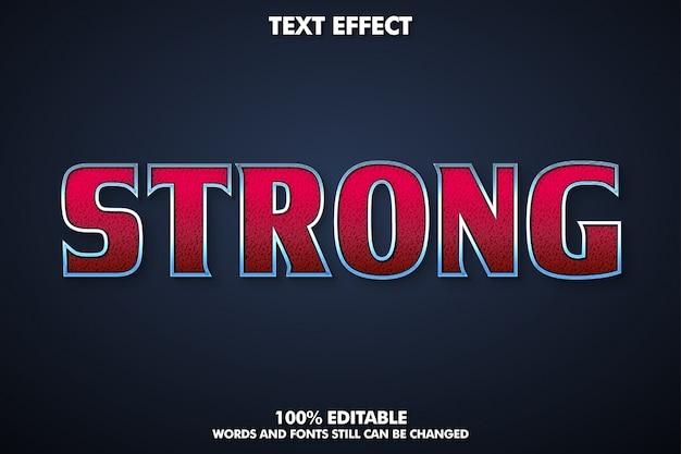 Efecto de texto moderno y fuerte con contorno plateado, estilo de texto cinematográfico