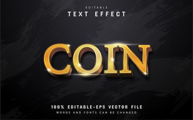 Efecto de texto de moneda de oro