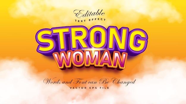 Efecto de texto de mujer fuerte