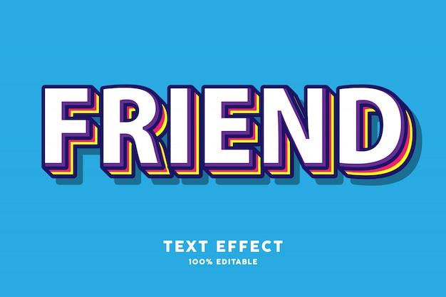 Efecto de texto de múltiples colores en capas 3d